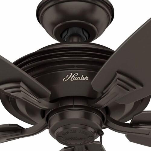 Hunter Fan Company Rainsford 52 Inch Ceiling Fan w/ Pull Chain Control, Bronze Perspective: right