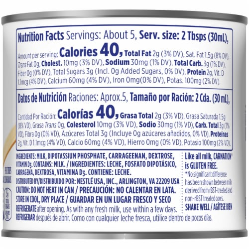 Nestle Carnation Evaporated Milk Perspective: right