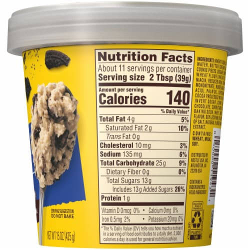 Nestle Toll House Cookies & Creme Edible Cookie Dough Perspective: right