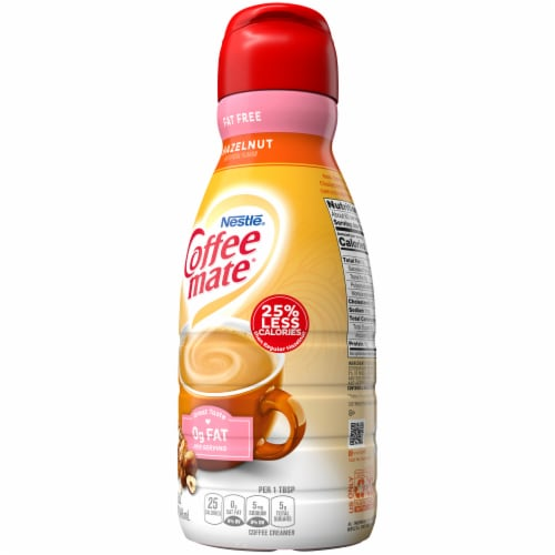 Nestle Coffee mate Hazelnut Fat Free Liquid Coffee Creamer Perspective: right