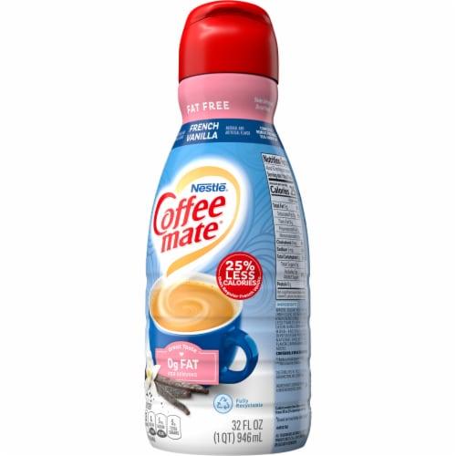 Nestle Coffee mate French Vanilla Fat Free Liquid Coffee Creamer Perspective: right