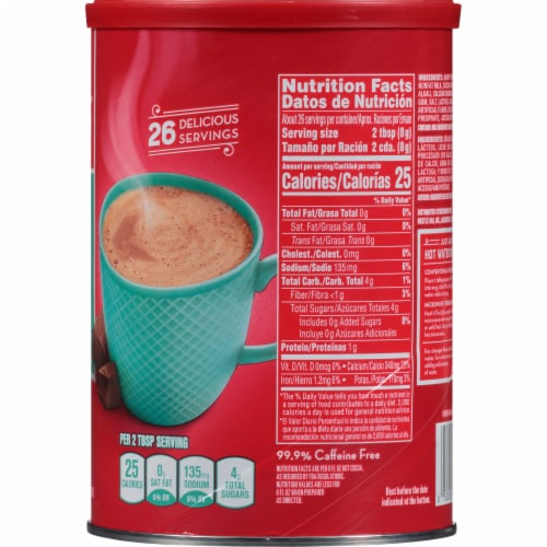 Nestle Fat Free Rich Milk Chocolate Hot Cocoa Mix Perspective: right