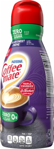 Coffee-mate Sugar Free Italian Sweet Creme Liquid Coffee Creamer Perspective: right