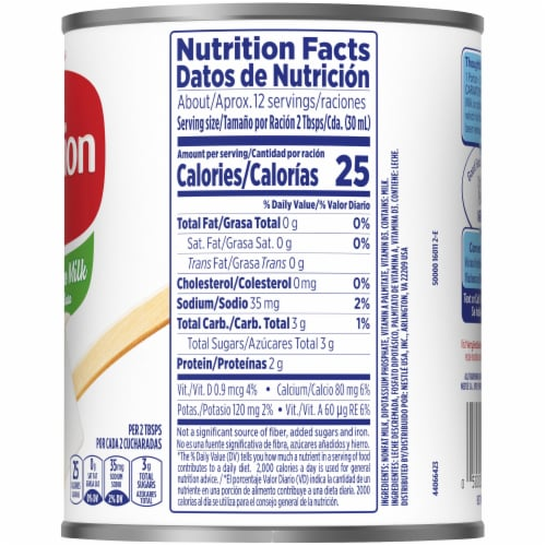 Carnation Evaporated Fat Free Milk Perspective: right