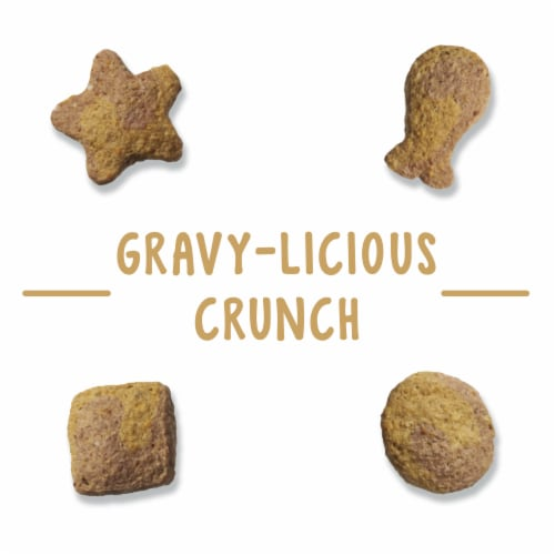 Friskies Party Mix Gravylicious Crunch Chicken & Gravy Flavored Cat Treats Perspective: right