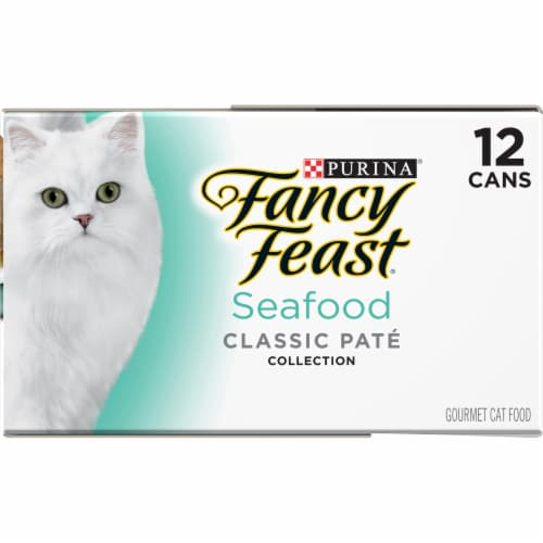 Fancy Feast Seafood Classic Pate Wet Cat Food Variety Pack Perspective: right