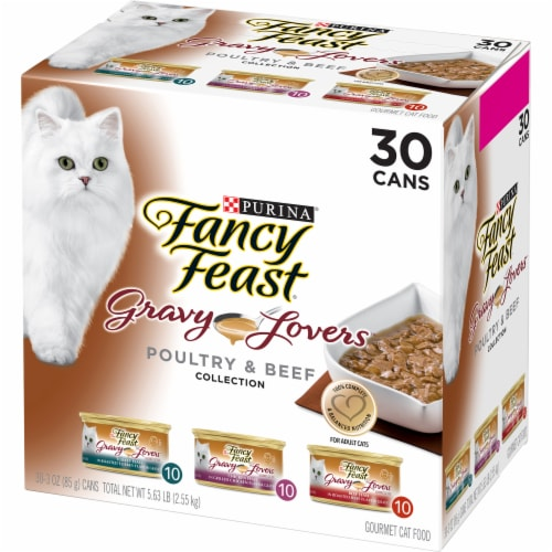 Fancy Feast Gravy Lovers Poultry & Beef Wet Cat Food Variety Pack Perspective: right