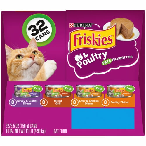 Friskies Poultry Pate Favorites Wet Cat Food Variety Pack Perspective: right