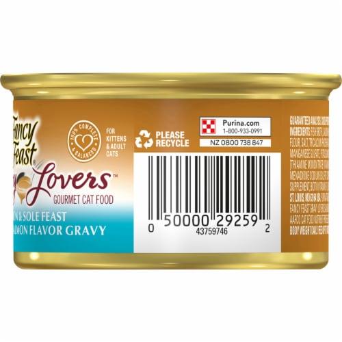 Fancy Feast Gravy Lovers Salmon & Sole Feast in Seared Salmon Gravy Wet Cat Food Perspective: right