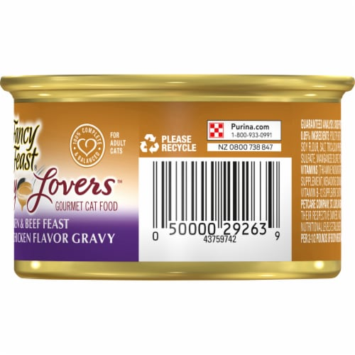 Fancy Feast Gravy Lovers Chicken & Beef in Gravy Wet Cat Food Perspective: right