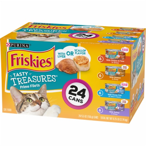 Friskies Tasty Treasures with Cheese Wet Cat Food Variety Pack Perspective: right