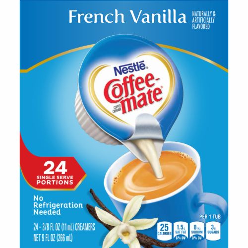 Coffee-mate French Vanilla Liquid Coffee Creamers 24 Count Perspective: right