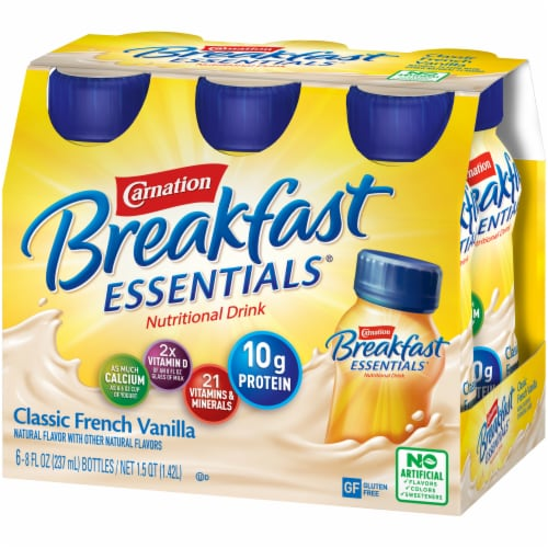 Carnation Breakfast Essentials Classic French Vanilla Drink Perspective: right