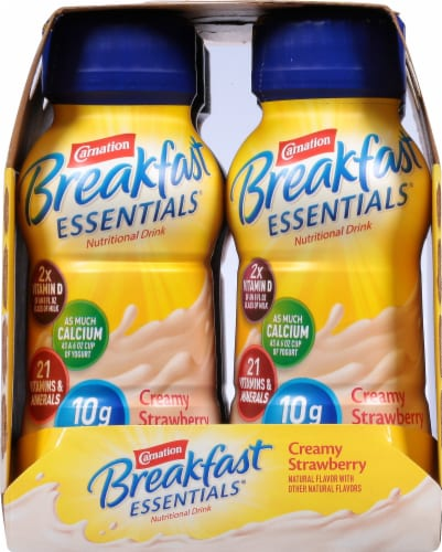 Carnation Breakfast Essentials Creamy Strawberry Drink Perspective: right