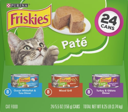 Friskies Pate Adult Wet Cat Food Variety Pack Perspective: right