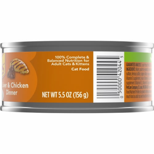 Friskies Liver & Chicken Dinner Pate Wet Cat Food Perspective: right