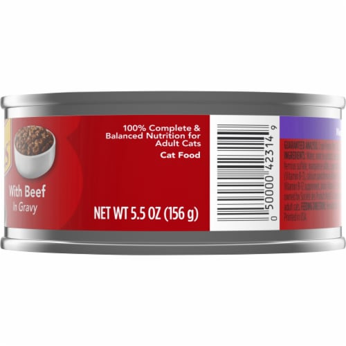 Friskies Meaty Bits with Beef in Gravy Adult Wet Cat Food Perspective: right