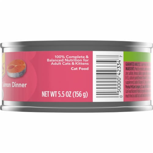 Friskies Pate Salmon Dinner Wet Cat Food Perspective: right
