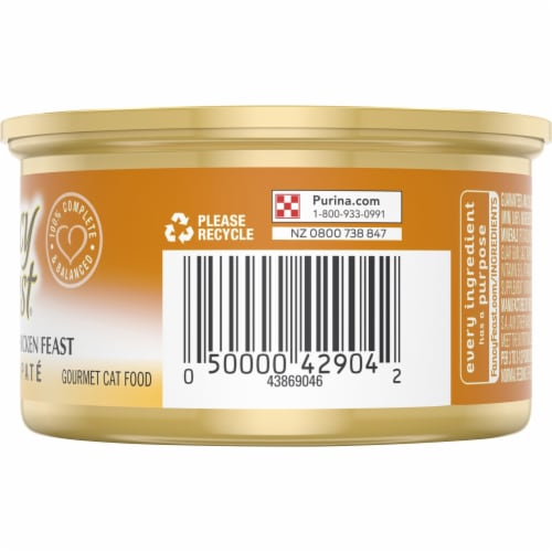 Fancy Feast Classic Pate Tender Liver & Chicken Feast Wet Cat Food Perspective: right