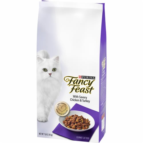 Fancy Feast with Savory Chicken & Turkey Dry Cat Food Perspective: right