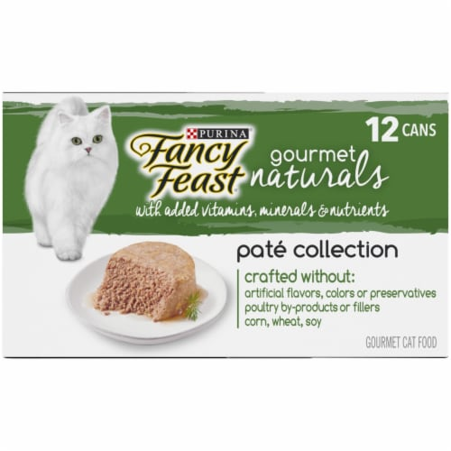 Fancy Feast Gourmet Naturals Pate Collection Wet Cat Food Perspective: right