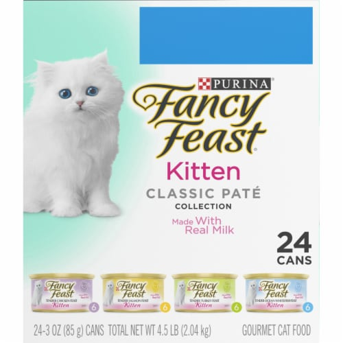 Fancy Feast Classic Pate Collection Wet Kitten Food Variety Pack Perspective: right