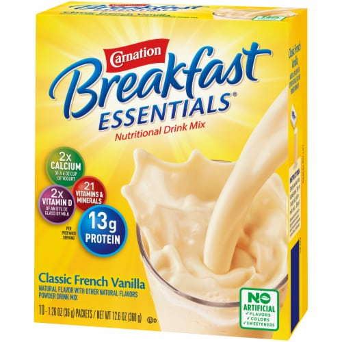 Carnation Breakfast Essentials Classic French Vanilla Powder Drink Mix Perspective: right
