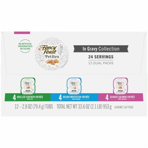 Fancy Feast Petites In Gravy Collection Gourmet Cat Food Perspective: right