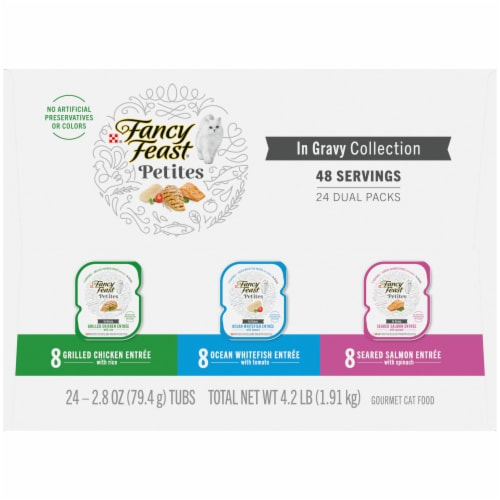 Fancy Feast® Petites in Gravy Wet Cat Food Variety Pack Perspective: right