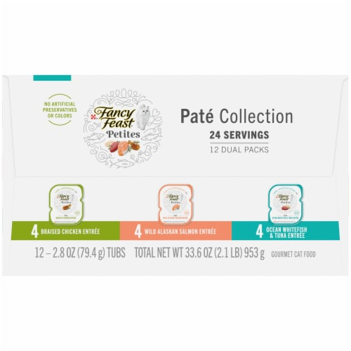 Fancy Feast Petites Pate Collection Gourmet Cat Food Perspective: right