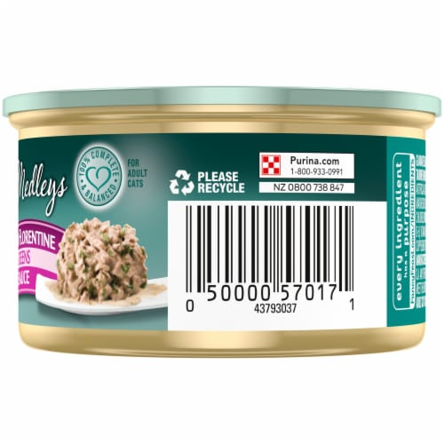 Purina Fancy Feast Medleys White Meat Chicken Florentine Gravy Wet Cat Food Can Perspective: right