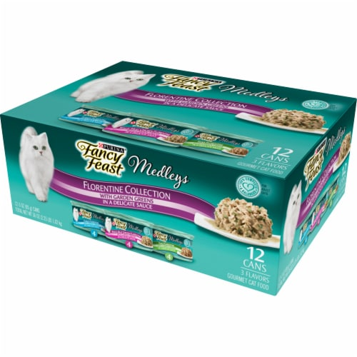 Fancy Feast Medleys Florentine Collection Wet Cat Food Variety Pack Perspective: right