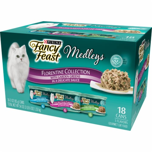 Fancy Feast Gourmet Cat Food Medleys Florentine Collection Variety Pack Perspective: right