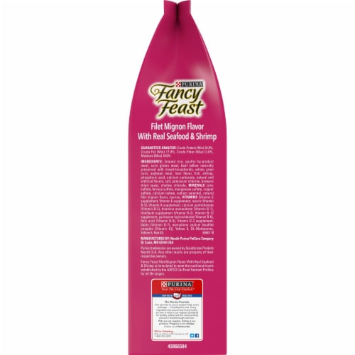Fancy Feast Filet Mignon Flavor with Real Seafood & Shrimp Dry Cat Food Perspective: right