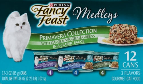 Fancy Feast Medleys Primavera Collection Wet Cat Food Variety Pack 12 Count Perspective: right