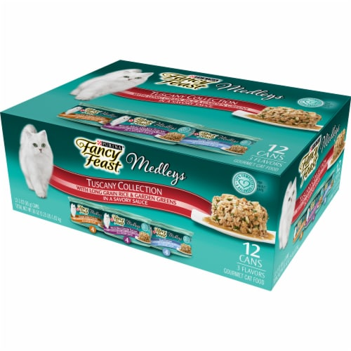 Purina Fancy Feast Elegant Medleys Tuscany Collection Wet Cat Food Variety Pack Perspective: right