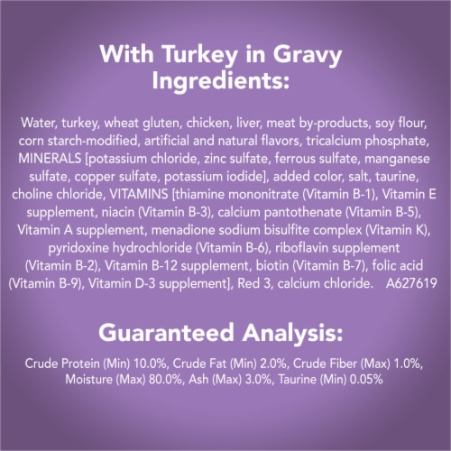 Friskies Tasty Treasures Prime Fillets with Turkey and Liver in Gravy Wet Cat Food Perspective: right