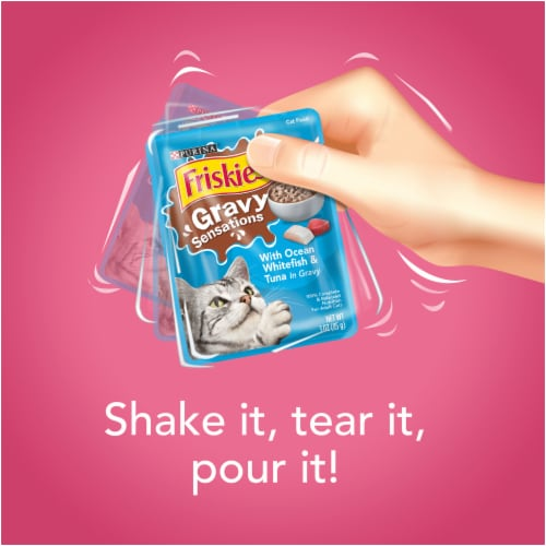 Friskies Gravy Sensations Surfin' & Turfin' Pouches Wet Cat Food Variety Pack Perspective: right