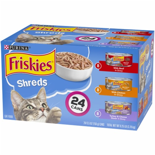 Friskies® Shreds Wet Cat Food Variety Pack Perspective: right