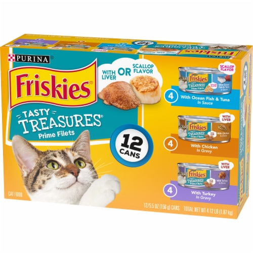 Friskies Tasty Treasures Wet Cat Food Variety Pack Perspective: right