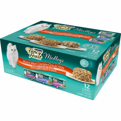 Fancy Feast Elegant Medleys White Meat Chicken Wet Cat Food Variety Pack Perspective: right