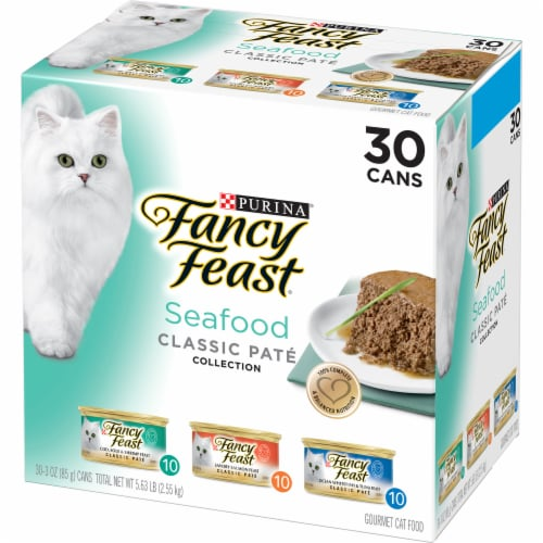 Fancy Feast Classic Seafood Pate Wet Cat Food Perspective: right