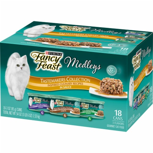 Fancy Feast Medleys Tastemakers Collection Wet Cat Food Variety Pack Perspective: right