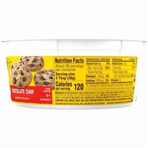 Nestle Toll House Chocolate Chip Cookie Dough Perspective: right