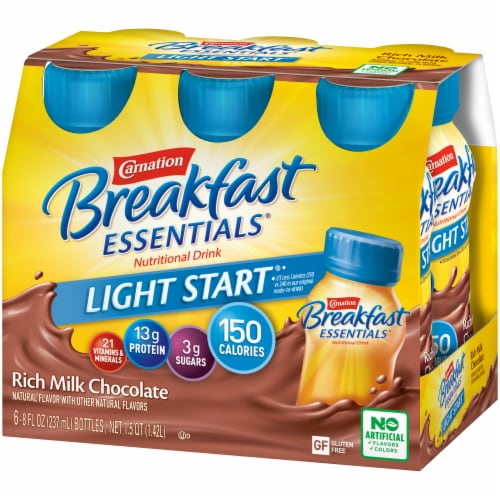 Carnation Breakfast Essentials Light Start Chocolate Nutritional Drink Perspective: right