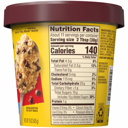 Nestle Toll House Chocolate Chip Edible Cookie Dough Perspective: right