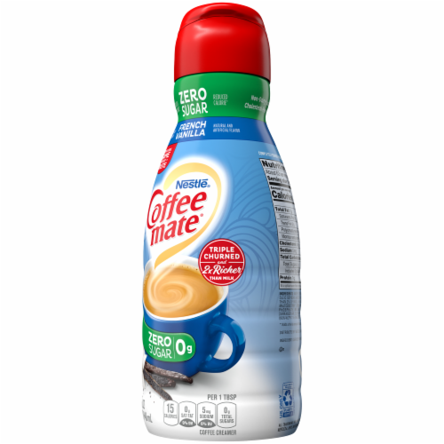 Coffee-mate Sugar Free French Vanilla Liquid Coffee Creamer Perspective: right