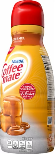Coffee-mate Caramel Liquid Coffee Creamer Perspective: right