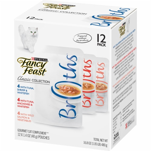 Fancy Feast Classic Collection Variety Pack 12 Count Perspective: right