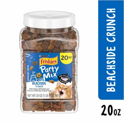 Friskies Party Mix Beachside Crunch Cat Treats Perspective: right